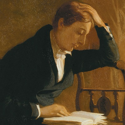 John Keats, from a portrait by Joseph Severn
